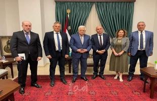الرئيس عباس يستقبل وزيري الصحة والتعاون الإقليمي الإسرائيليين