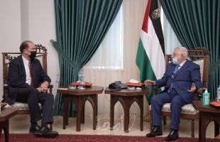 الرئيس عباس يستقبل رئيس البنك الدولي مالباس