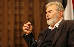 """النخالة: فلسطين هي بوصلة الوحدة الإسلامية لهزيمة """"المشروع الصهيوني"""""""