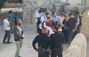 """مستوطنون يقتحمون ساحات """"المسجد الأقصى"""" بحراسةٍ مشددة"""