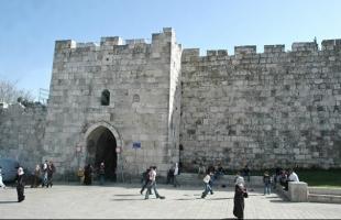 قوات الاحتلال تغلق باب الساهرة في القدس القديمة