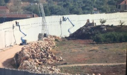 جيش الاحتلال يستأنف تركيب السياج على حدود لبنان
