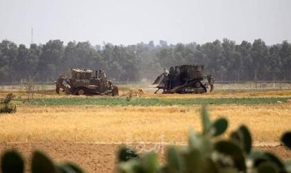 اطلاق النار تجاه الأراضي الزراعية وجرافات جيش الاحتلال تتوغل شرق غزة