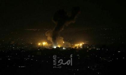 رداً على إطلاق بالونات حارقة.. طائرات الاحتلال تستهدف مواقع عسكرية في قطاع غزة