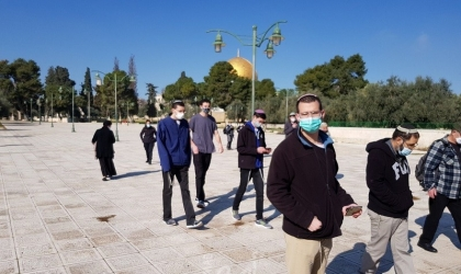 """القدس: مستوطنون يقتحمون ساحات """"الأقصى"""" بحراسة مشددة"""
