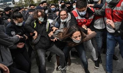 احتجاجات في تركيا على قرارات أصدرها إردوغان مؤخرا