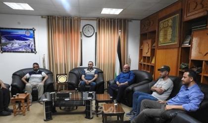 غزة: وكيل وزارة النقل والمواصلات يستقبل وفداً من مباحث المعابر والموانئ