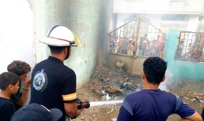 الدفاع المدني يخمد حريق اندلع بمنزل في خانيونس