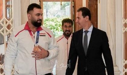 الأسد يستقبل الرباع معن أسعد تقديرًا لإنجازه في أولمبياد طوكيو -فيديو