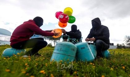 اطلاق دفعة بالونات حارقة وقوات الاحتلال تصيب مزارع شرق قطاع غزة