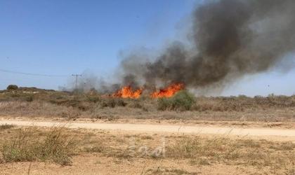 حرائق في بلدات إسرائيلية شرق قطاع غزة بفعل البالونات