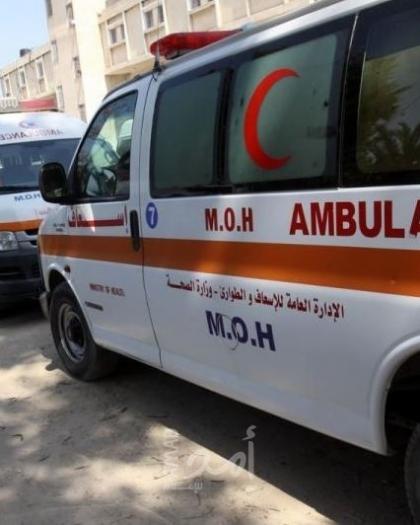 إصابة 5 مواطنين جراء حادث سير وسط قطاع غزة - صور